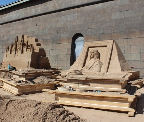 "Sand sculpture festival - 2018 ""World masterpieces"""