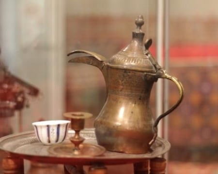 "The exhibition ""Tea and coffee ceremonies, and without..."""