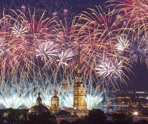 St. Petersburg residents protested the lack of fireworks, which was not planned